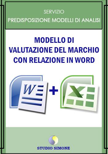 Modello di valutazione del marchio con relazione in word