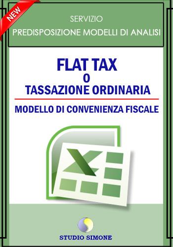 Flat tax o tassazione ordinaria - Modello di convenienza fiscale
